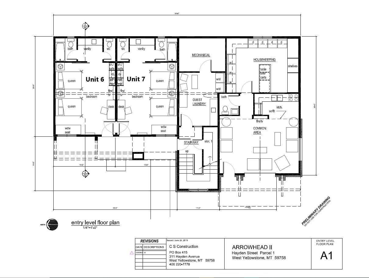 Floor Plan for Arrowhead Lodge Unit 7